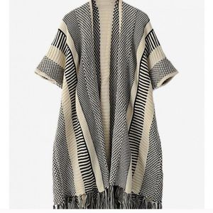 Sweaters - Open front fringe sweater
